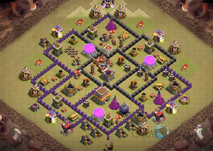 Base War TH 8 di Clash Of Clans Terbaru 2017 Tipe 2