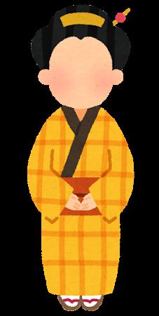 のっぺらぼうのイラスト(女性)