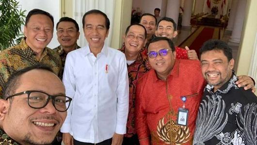 Dihadiri Said Iqbal, Pertemuan Presiden Jokowi dan Pimpinan Buruh Berlangsung Akrab