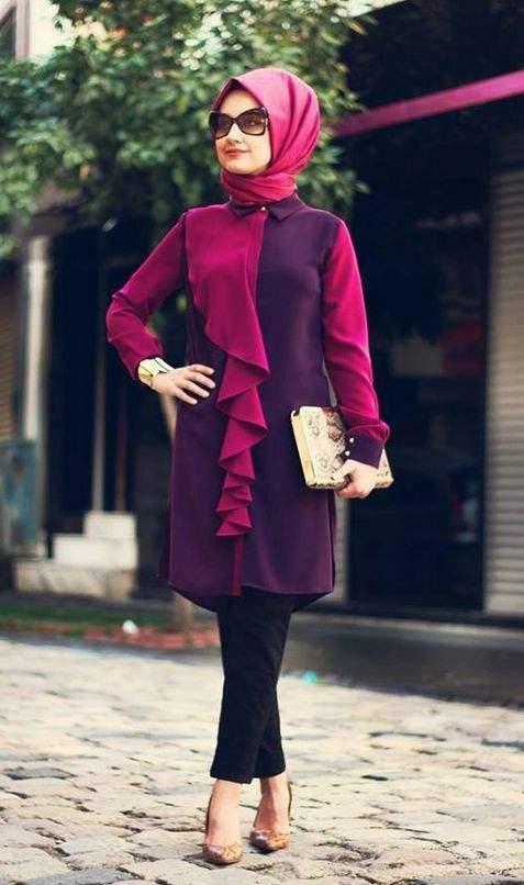 b0ea470d17666 Kapalı Giyim Tarzları ve Tunikleri Modası: En İyi Tesettür Markaları ...