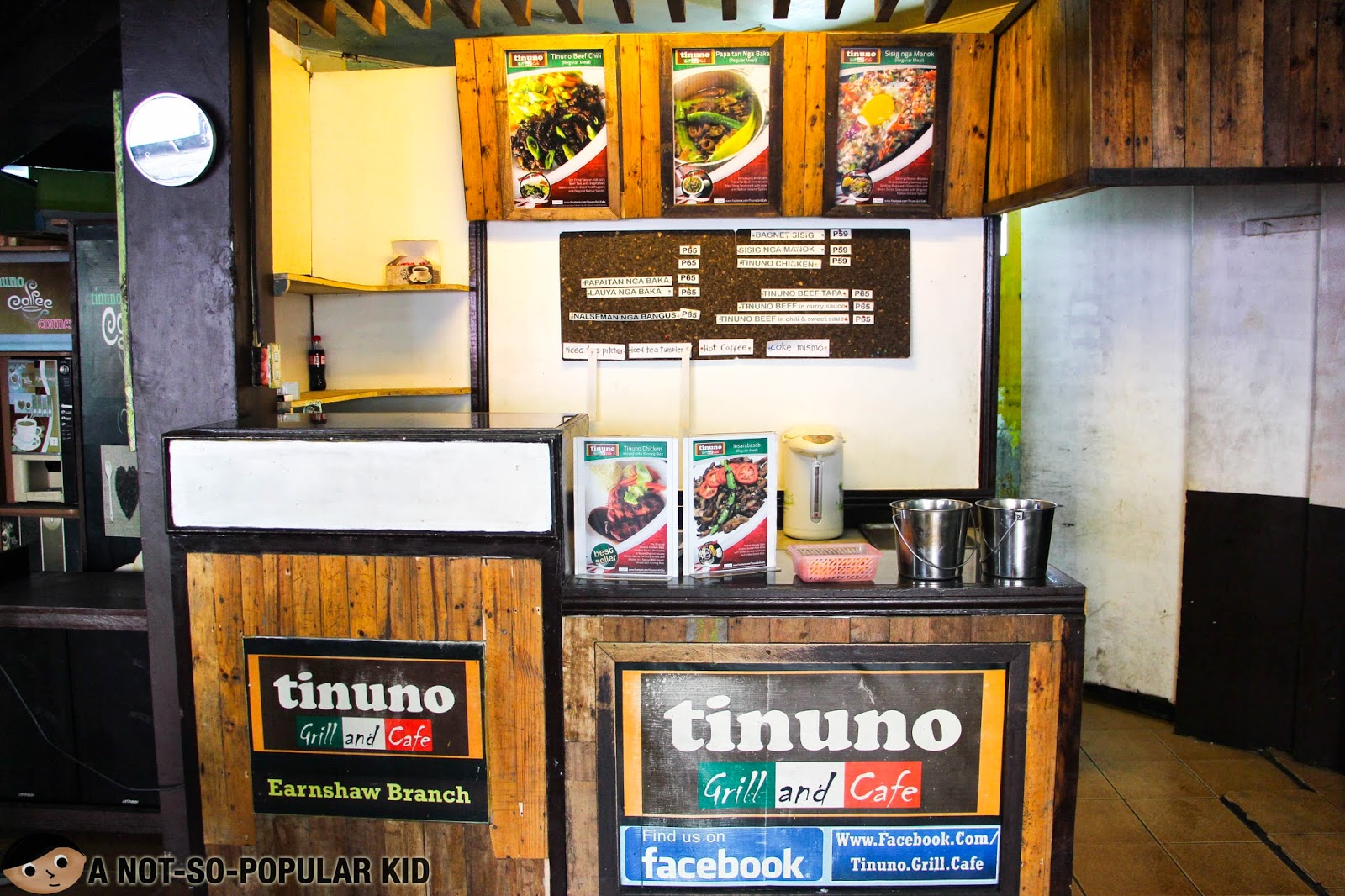 Tinuno Grill and Cafe in Earnshaw St. near CPAR and UST in Sampaloc, Manila
