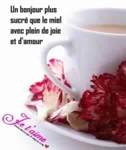 Message d'amour matinal pour son amour