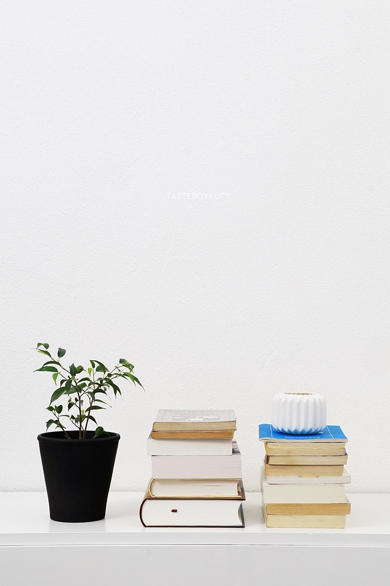 Stapel ungelesener Bücher ablesen und Update Konsumverzicht im März