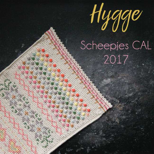 Scheepjes CAL 2017 - Hygge Pastel (photo Scheepjes) | Happy in Red