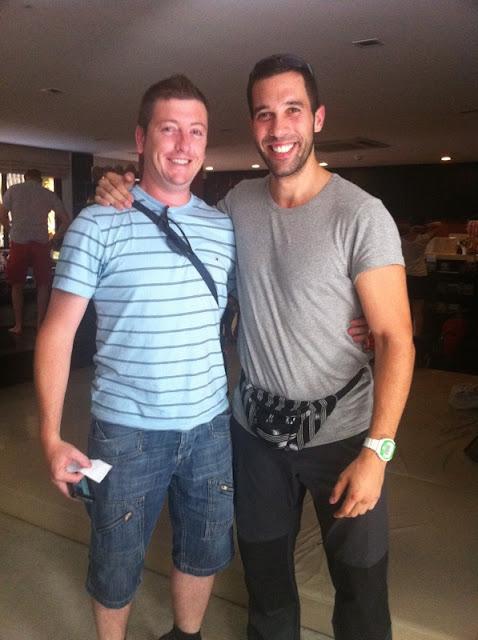Israel y Antonio en el guest house