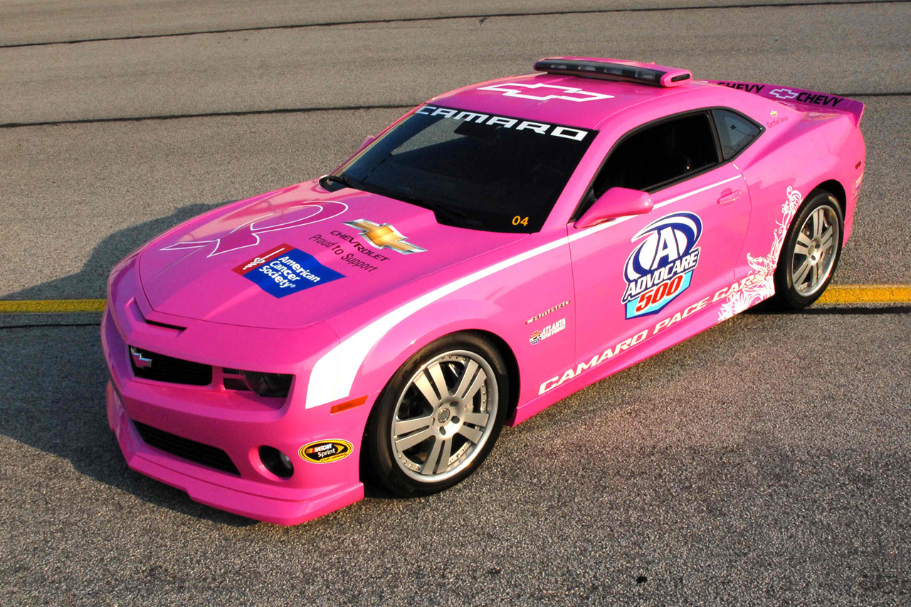 girly cars pink cars every women will love pink chevy camaro nascar peacec car. Black Bedroom Furniture Sets. Home Design Ideas