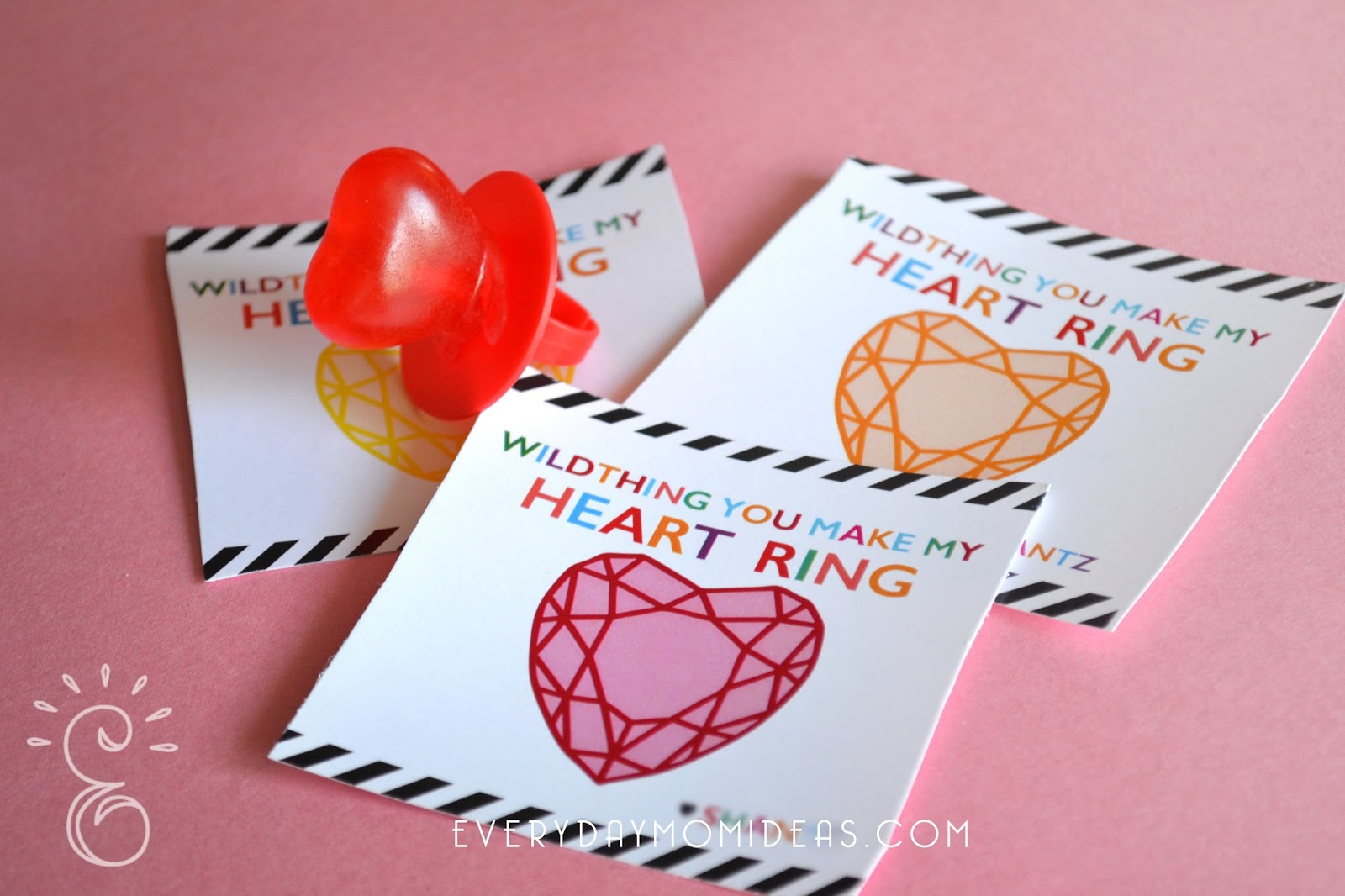 picture regarding You Make My Heart Pop Valentine Printable identified as Sweet Ring Pop Valentine (Cost-free Printable) - Every day Mother Strategies