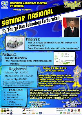 Seminar Nasional Electrical Evolution (E-VO) 2014