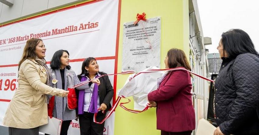 PRONIED: Más de 200 niños de Ate mejoraron sus condiciones educativas este año - www.pronied.gob.pe