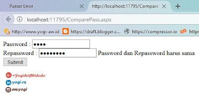 ASP.NET Compare Pass.aspx Open Source