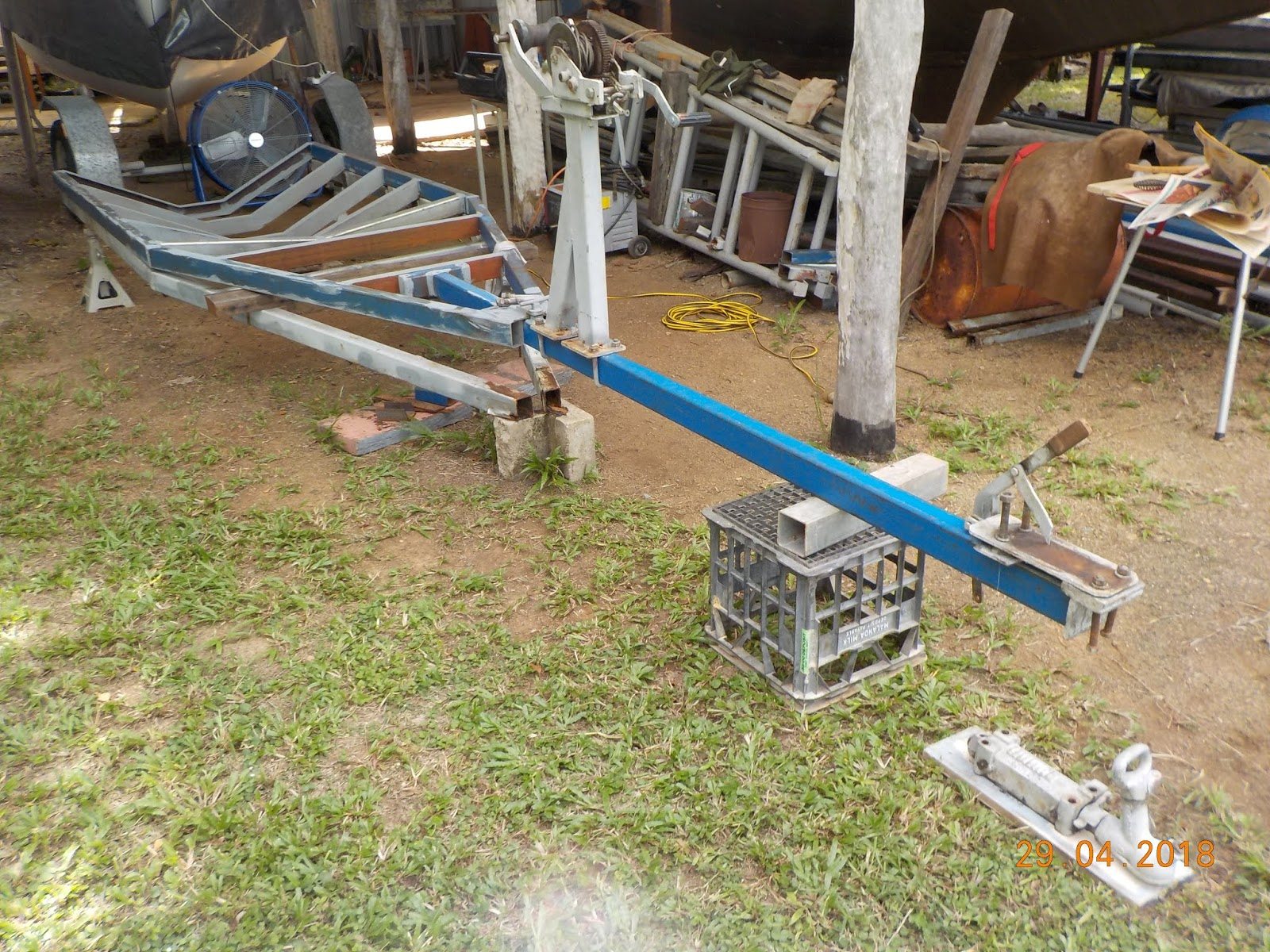 waterways trailer frame rebuild 6 and draw bar