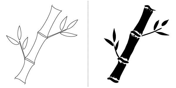 bamboo drawing - photo #38