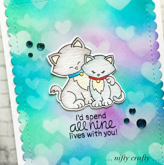 Newton's Sweetheart Card with February Guest Designer Valliam | Newton's Sweetheart Stamp Set by Newton's Nook Designs #newtonsnook #handmade