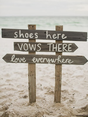 rustic beach wedding signs