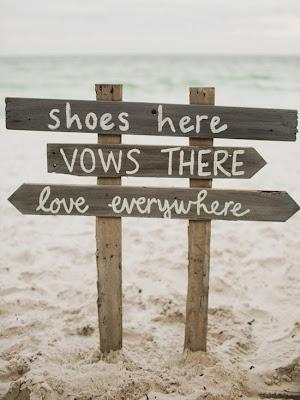 rustic beach wedding signs