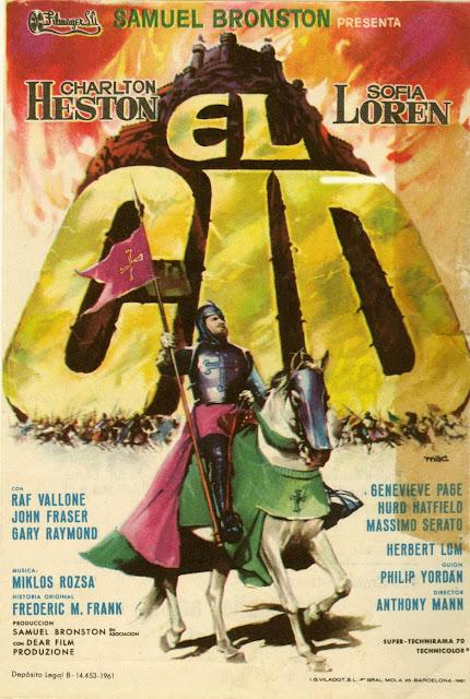Póster película El Cid