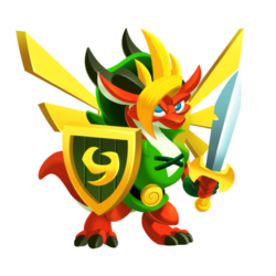 Appearance of Hero Dragon when teenager
