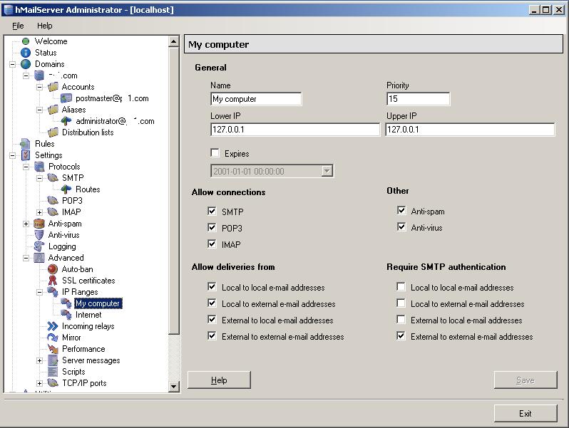 hmailServer setup | InRoads