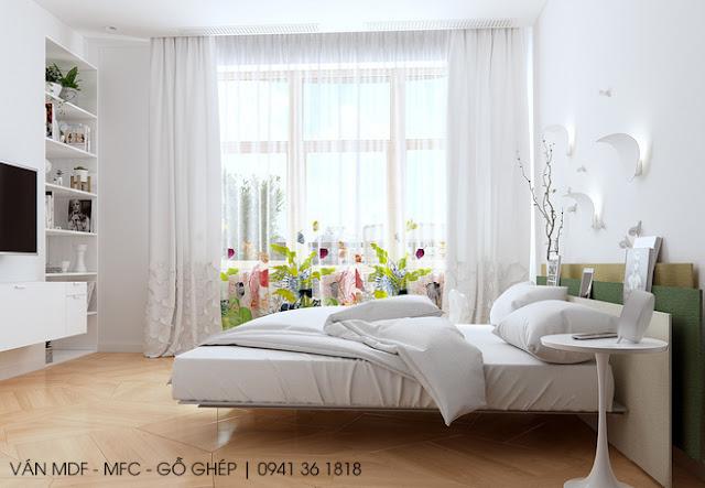 thiết kế phòng ngủ phong cách sang trọng hiện đại