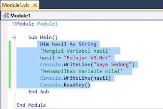 Menggunakan Variabel Pada VB.Net