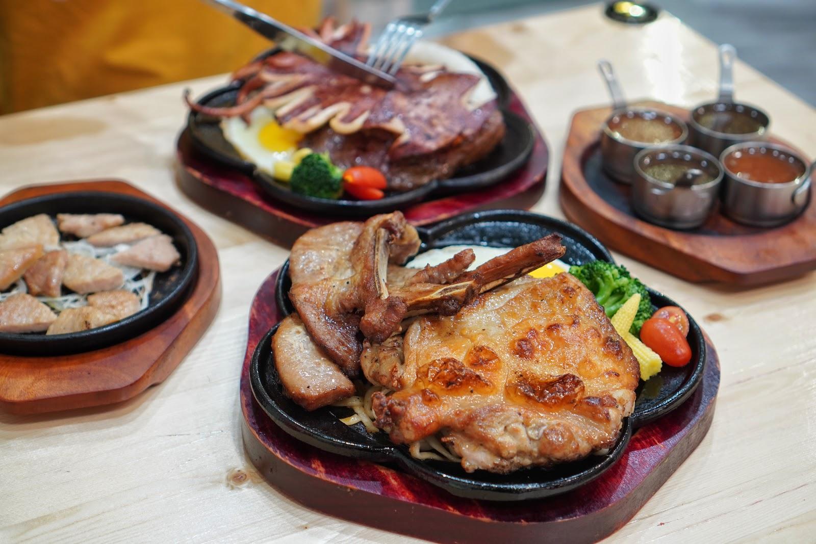 台南安南區美食【19House炙燒牛排安南店】餐點介紹 三隻小豬與好朋友