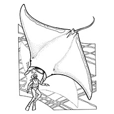 Printable Stingrays Coloring Sheet For Free