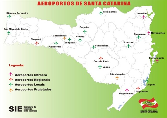 Aeroporto Navegantes Santa Catarina : Geo conceição aeroportos de santa catarina