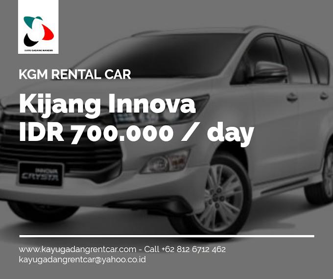 Sewa Mobil Toyota Kijang Innova di Padang Sumatera Barat