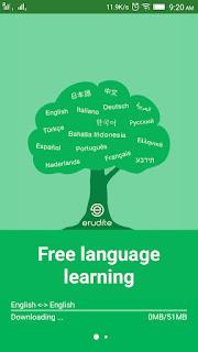 Erudite dictionary app