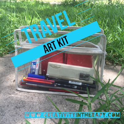 Travel Art Kit | Creativity in Therapy | Carolyn Mehlomakulu