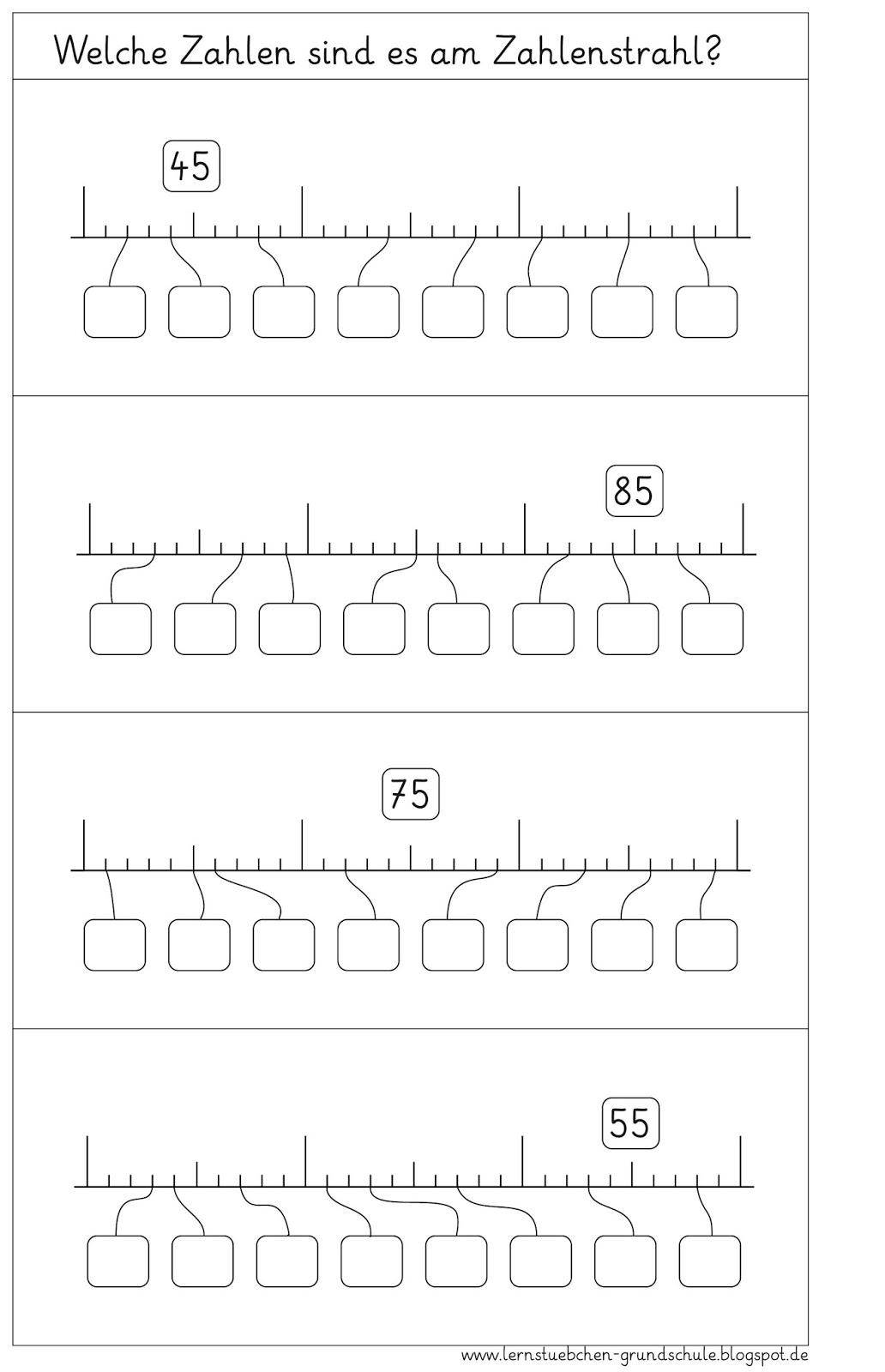 lernst bchen zahlenstrahl ab 3. Black Bedroom Furniture Sets. Home Design Ideas