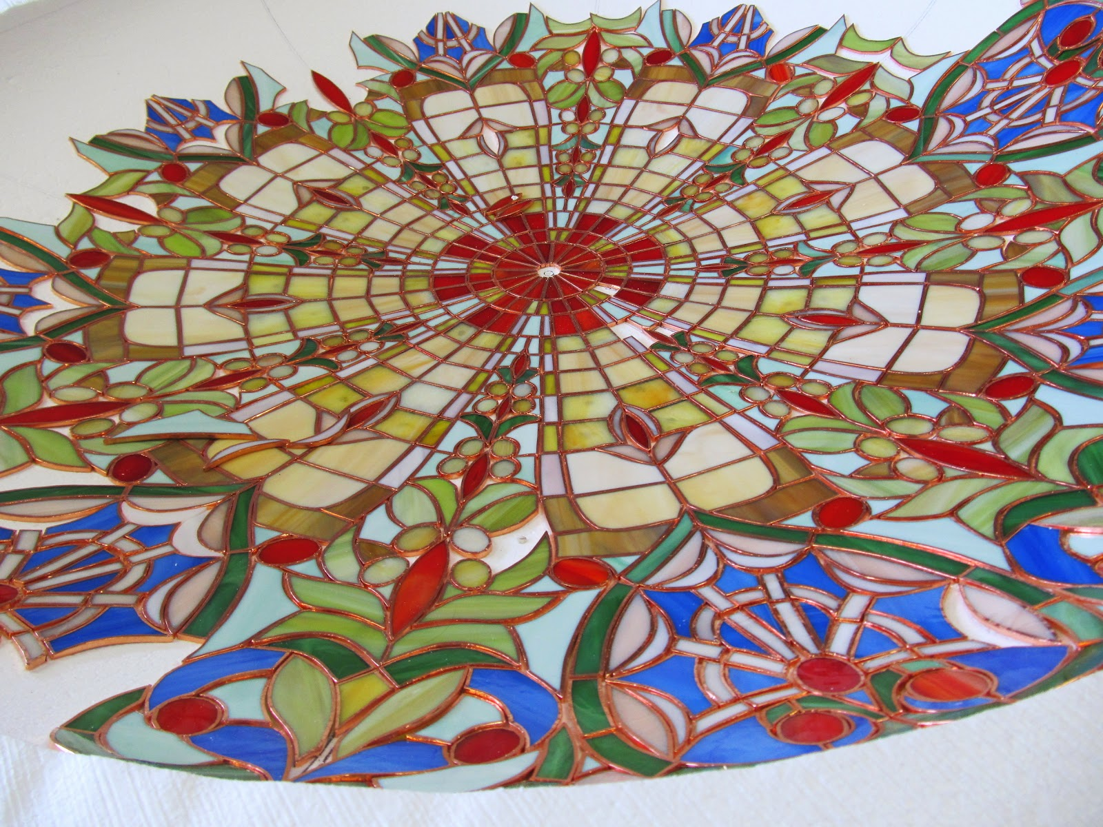 tiffany lustr postup prací - vitráže