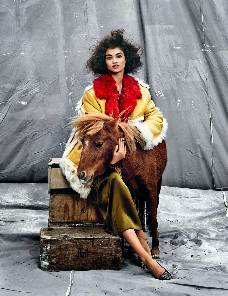 Vogue India editorial featuring Shanina Shaik by Kristian Schuller