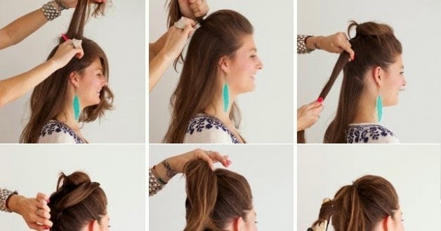 Fake Long Ponytail Hairstyle Step By Step