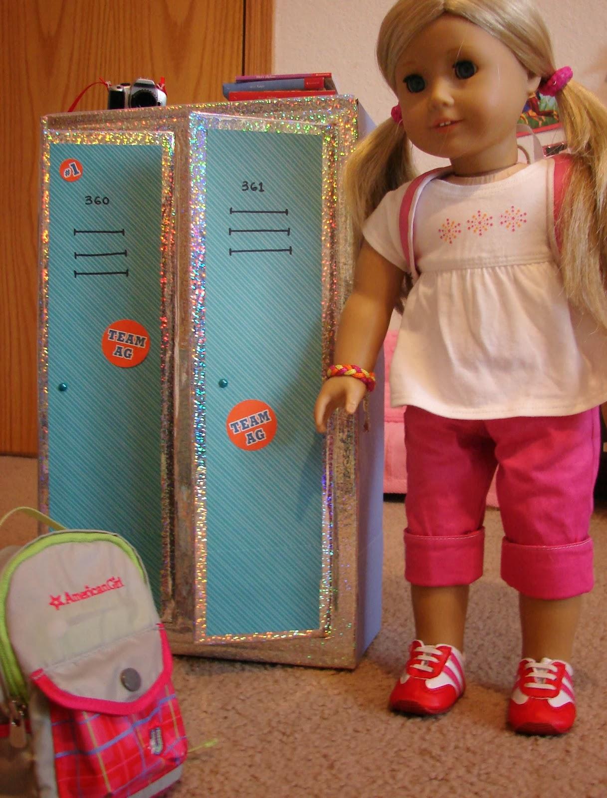 American Girl Doll Play Doll Craft Making A Set Of School Lockers