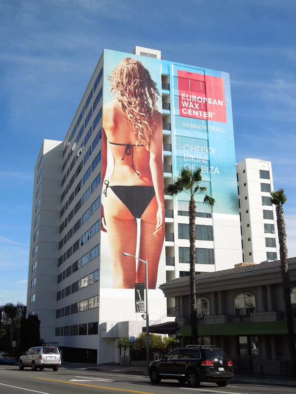 European Wax Center bikini billboard Mondrian