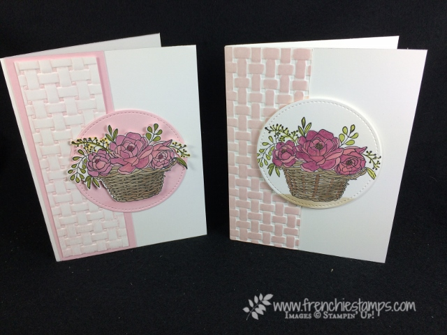 Blossoming Basket without handle, Stampin'Yp!, Frenchiestamps,