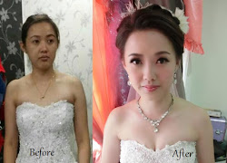before after bridal makeup