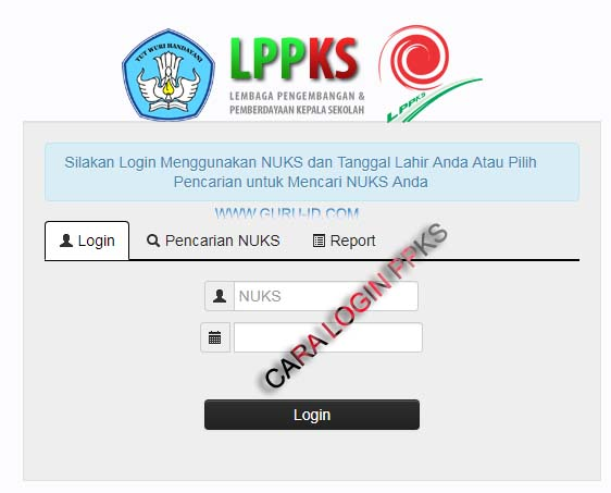 GAMBAR LOGIN LPPKS http://lppks.kemdikbud.go.id/nuks/login.php