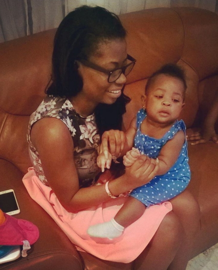 sophie momodu with baby