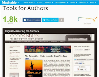 Mashable - book promotion services
