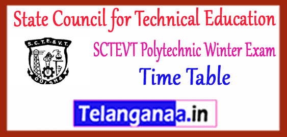 SCTEVT State Council for Technical Education Vocational Training Odisha Diploma 1st 3rd 5th Semester Exam Time Table