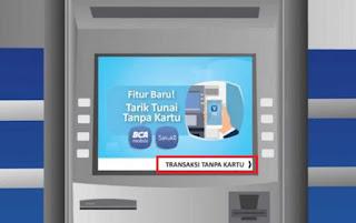 mengambil uang tunai di mesin ATM BCA tanpa menggunakan kartu ATM