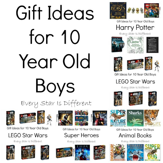 Gift ideas for 10 year old boys.