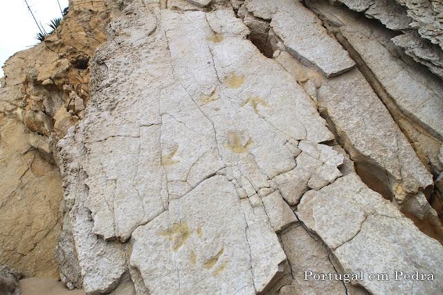 pegadas de dinossauros Praia da Salema