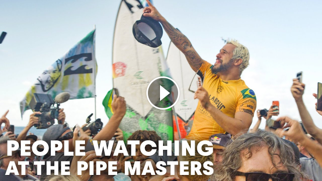 An Unfiltered Unbiased Behind-The-Scenes Glimpse Of The Pipe Masters People Watching