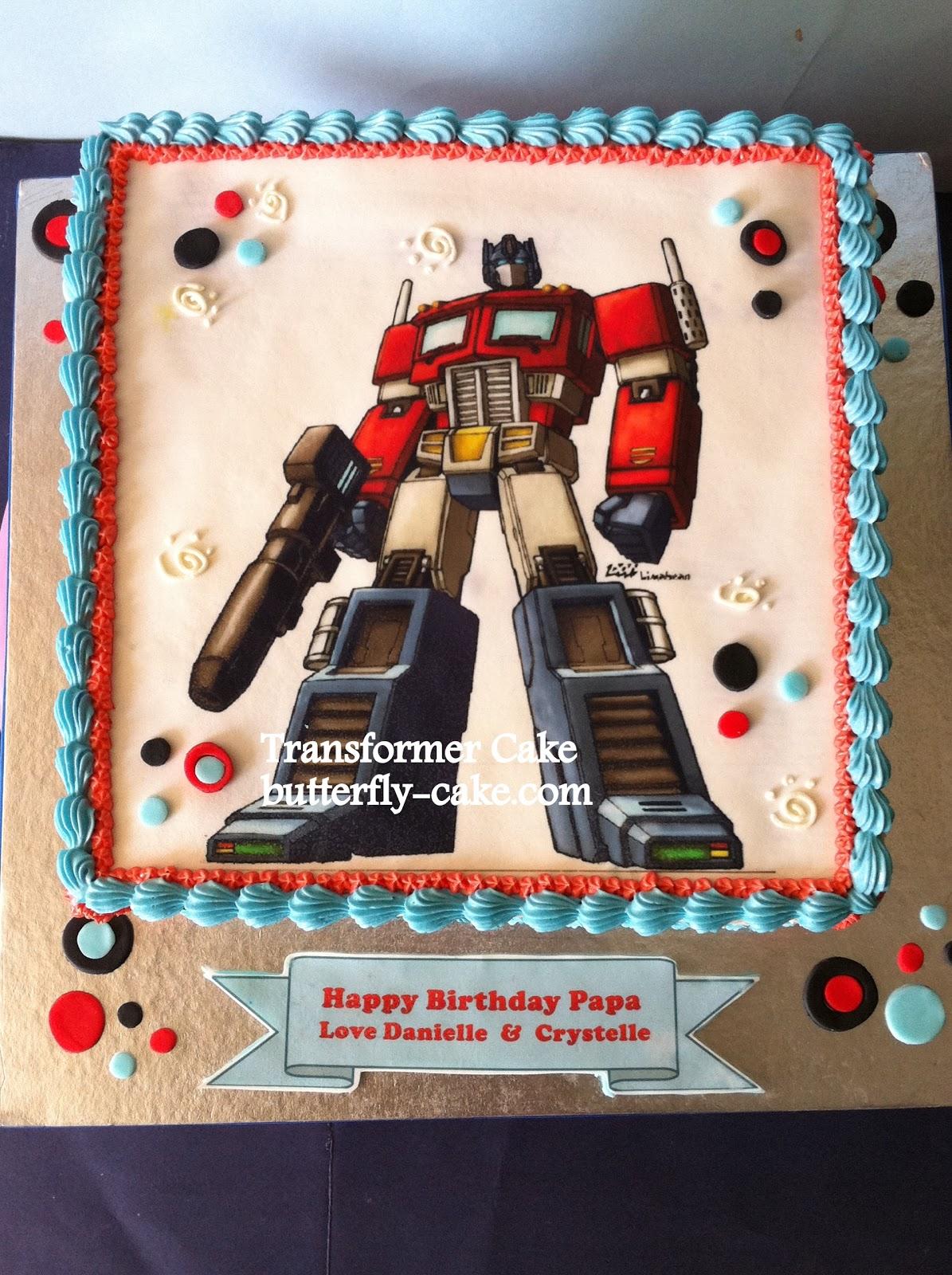 Butterfly Cake Transfomer Cake Optimus Prime