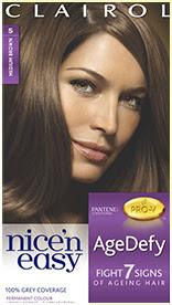 Nice'n Easy Age Defy Permanent Hair Dye Medium Brown 5