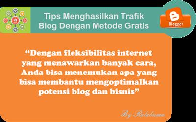 Tips Menghasilkan Trafik Dengan Metode Gratis