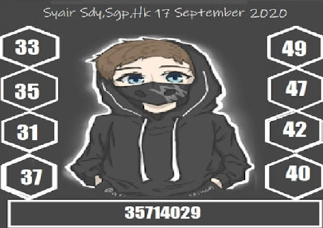 Kode syair Singapore Kamis 17 September 2020 225